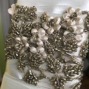 Beaded bridal sash/belt
